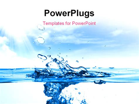 powerpoint template water up of a water drops powerpoint template