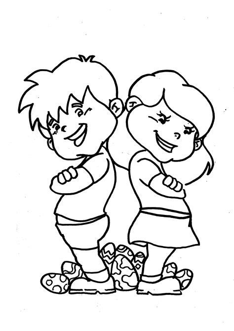 imagenes niños peleando para colorear dibujo colorear 1 dibujo de pascua para imprimir