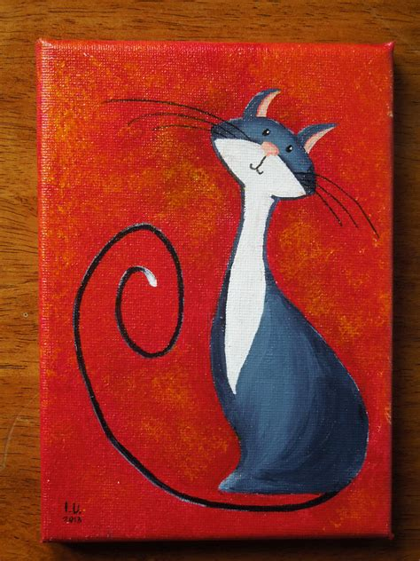 Cat Acrylic just finished my new painting as usual you can find it