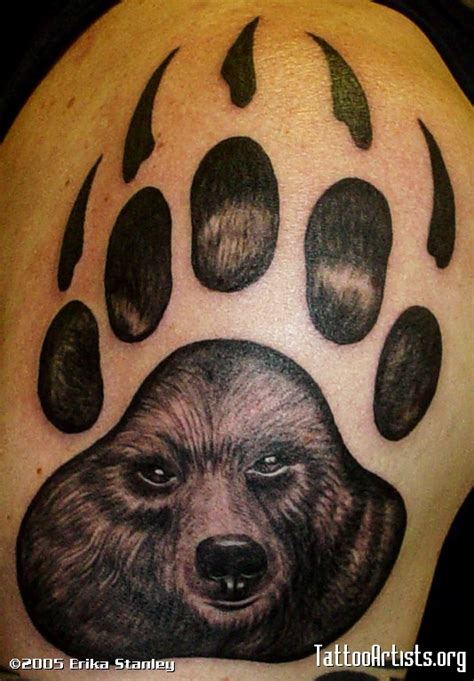 bear and wolf tattoo designs tatto paw tattoos