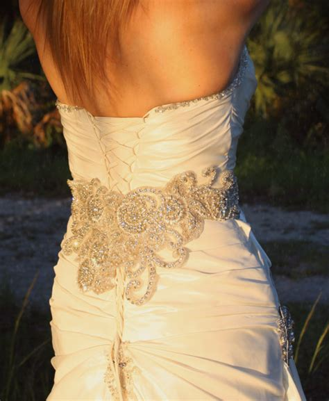 items similar to couture embellished wide bridal beaded