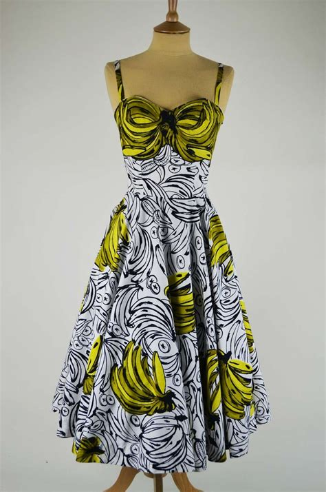 Banana Dress kitten vintage fashion inspiration going bananas