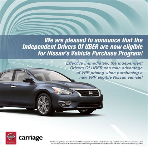 nissan lease maintenance nissan partners with uber to connect uber drivers with new