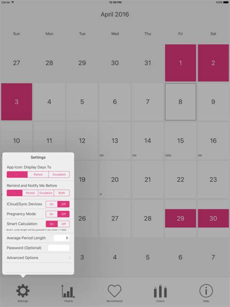 Ovulation Calendar App Menstrual Period Tracker And Ovulation Calendar Apppicker