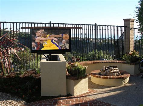 backyard tv outdoor entertainment enjoy an outdoor television or set of outdoor speakers