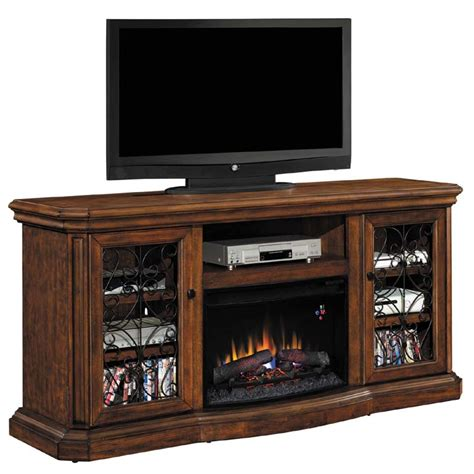 classic beauregard media mantel with electric