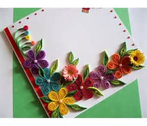 colorful flowers border greeting card buy handmade cards india wall hangings gifts