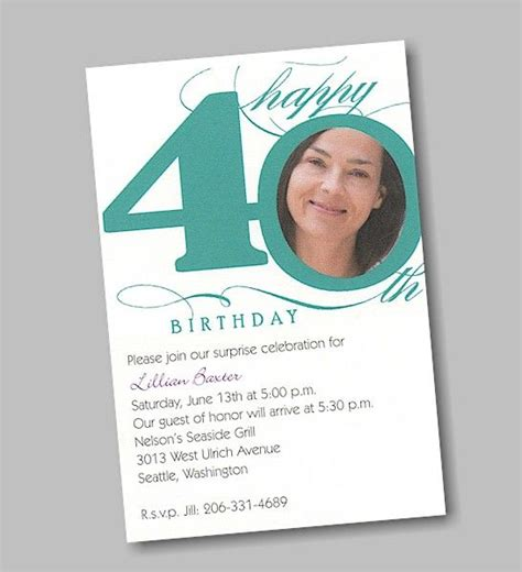 exles of 40th birthday invitations birthday invitation 40th in individual monitor calibration details and coloring of