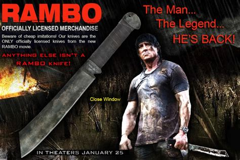 when was rambo 4 made topic officiel du couteau de rambo