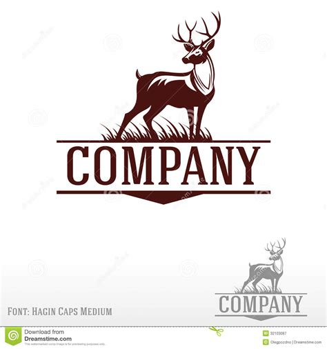 company with a buck in the logo deer logo royalty free stock photography image 32103087