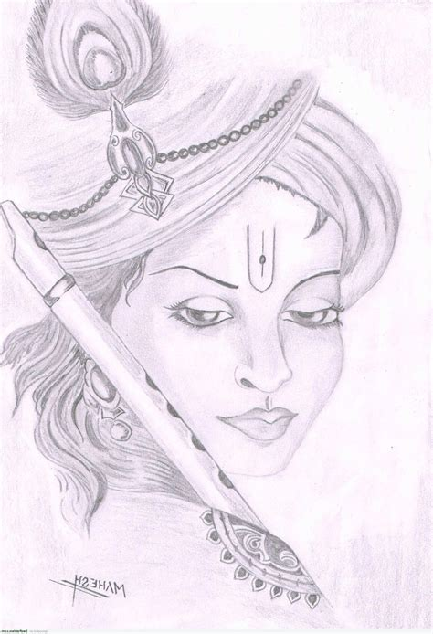 hd pencil drawing hd easy pencil sketch of lord krishna drawing of sketch