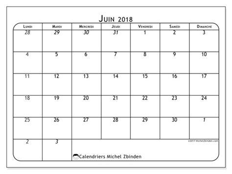 Calendrier 2018 Juin Calendrier Juin 2018 67ld