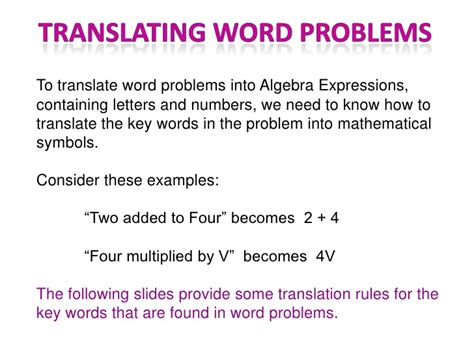 Translating Word Problems Into Algebraic Expressions Worksheet by Translate Math Word Problems Popflyboys