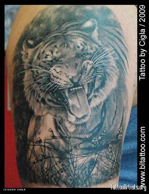 grass tattoo tiger in grass artists org