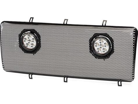 rugged ridge mesh grille insert rugged ridge 12034 35 rugged ridge spartan grille with dual led grille mesh insert for 07 16