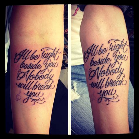 song lyric tattoos my and i got meaningful matching song lyric