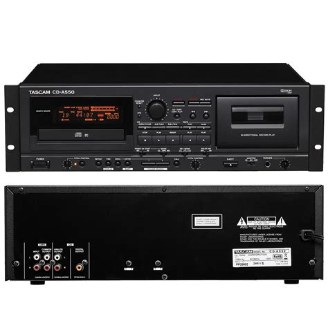 cd cassette player combo tascam cd a550 cd player cassette recorder combo