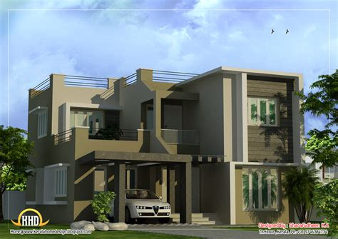 contemporary modern house plans modern duplex home design 1873 sq ft indian house plans