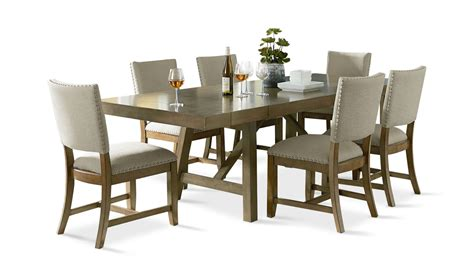 omaha dining room set w upholstered bench grey formal omaha grey dining table with 4 upholstered side chairs