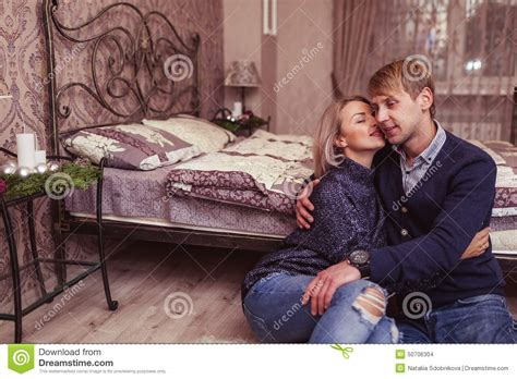 love images in bedroom couple in love in bedroom stock photo image 50706304