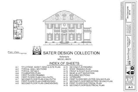 plan set what is in a set of house plans sater design collection