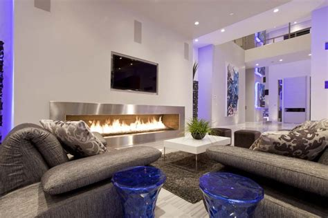 modern home living living room decorating ideas with tv and fireplace room