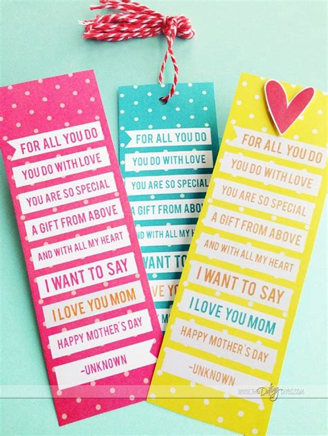 printable mom bookmarks mother s day journal gift