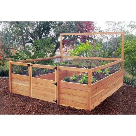 raised garden bed kit cedar complete raised garden bed kit 8 x 8 x 20