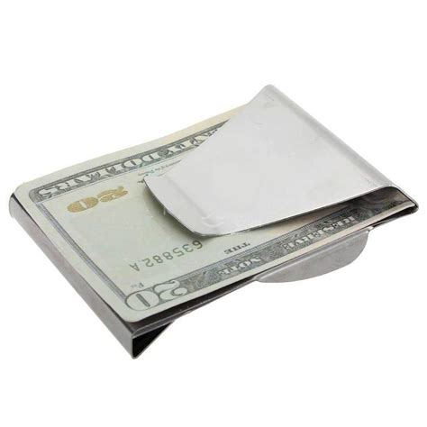 stainless steel wallet money clip besi penjepit uang silver jakartanotebook