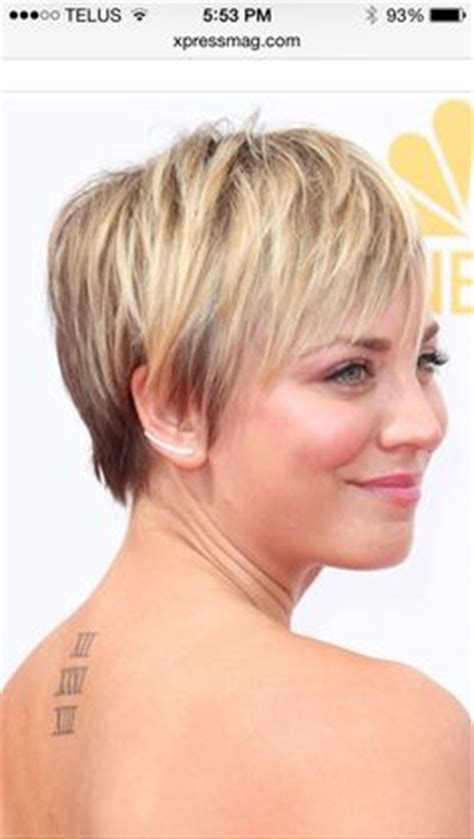 big theory haircut hairdresser kaley cuoco short straight hairstyle try on this