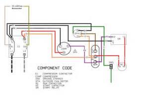wiring diagram for air conditioner start kit trane