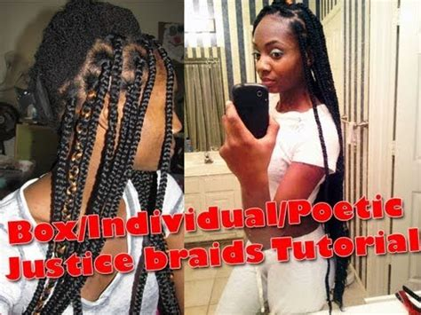 poetic justice braids step by step box individual poetic justic braids tutorial doovi