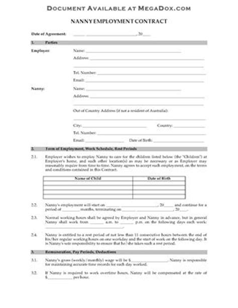 australia employment agreement form forms and