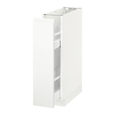 ikea pull out cabinet metod base cabinet pull out int fittings white voxtorp