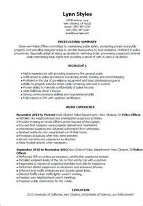 Examples Of Law Enforcement Resumes Professional Police Officer Templates To Showcase Your