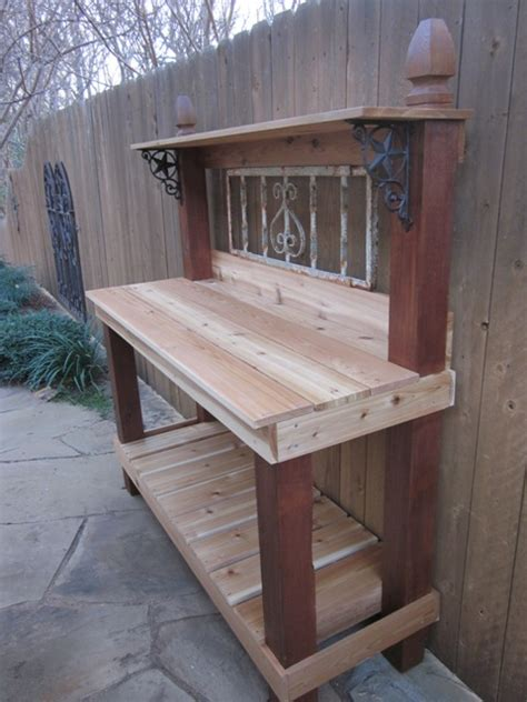 building a potting bench signature gardens potting in diy style