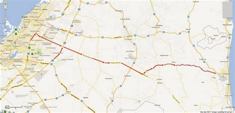 uae road map fujairah in focus directions with map from dubai to