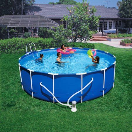intex 15 x 48 quot metal frame above ground pool walmart