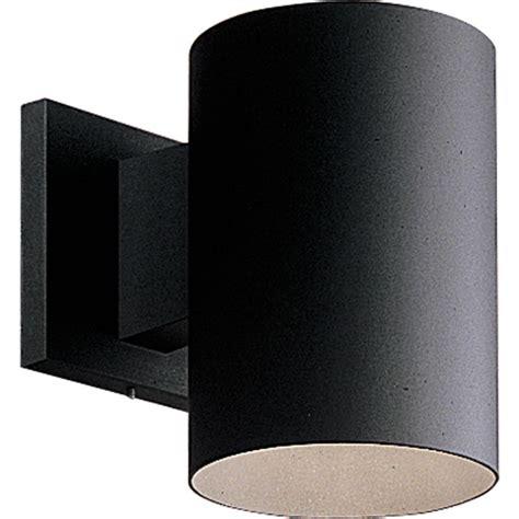 progress lighting outdoor wall sconce progress lighting p5674 31 black cylinder 1 light outdoor