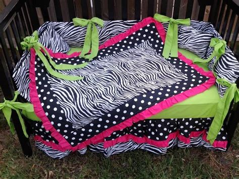 hot pink and lime green comforter sets new 7 piece hot pink lime green polka dot zebra crib