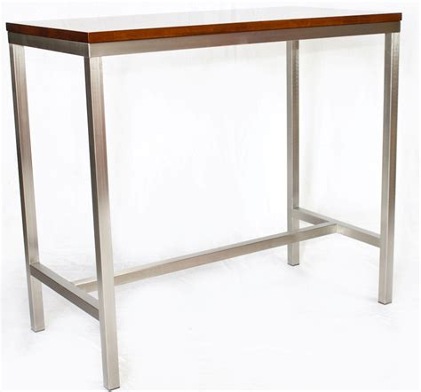 bar top tables and chairs stainless high bar timber top base023 creative