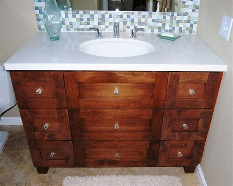 Knotty Alder Bathroom Vanity Palm Desert Traditional Knotty Alder Bath Vanity Traditional Bathroom Los Angeles By