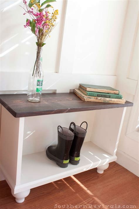 storage bench  small entryway space southern revivals