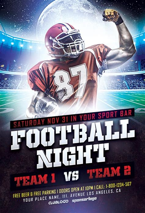 football flyer template free football sports flyer template