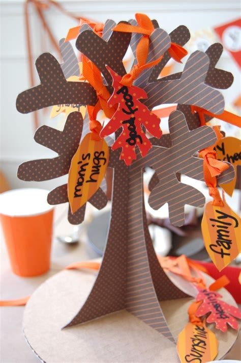 Thanksgiving Craft Ideas Planting Tree Coloring Page - tree of thanks with leaves diy printable papercraft by