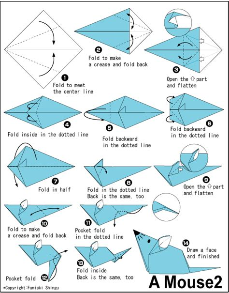 How To Make An Origami Mouse - origami mouse origami mouse diy everythang