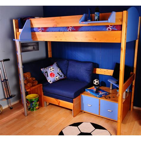 stompa high sleeper with desk and futon stompa casa high sleeper sofa bed with premium desk