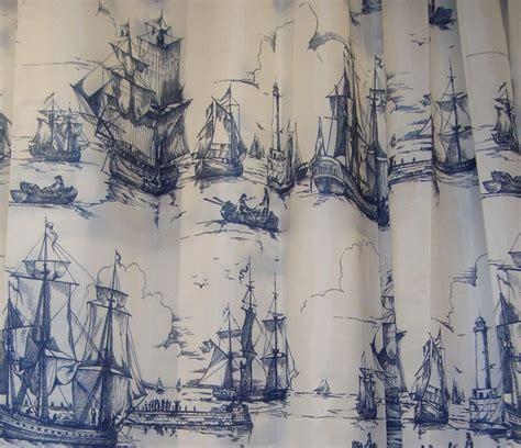 boat curtain fabric ikea aggersund boats fabric shower curtain blue white