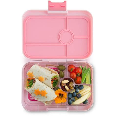 Section Lunch Box by Yumbox Lunch Box Tapas 4 Compartment Amalfi Light Pink