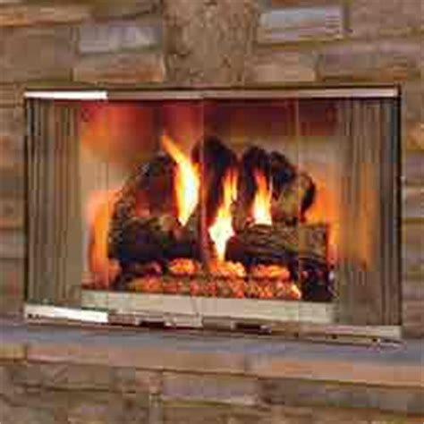 42 quot montana outdoor radiant wood burning fireplace with